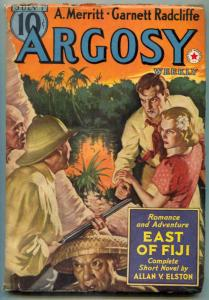 Argosy Pulp July 1 1939- East of Fiji- Belarski cover F/VF