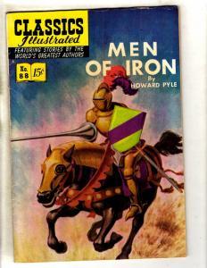 Classics Illustrated # 88 FN HRN # 89 Gilberton Comic Book Men Of Iron JL26