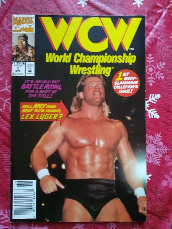 WCW World Championship Wrestling #1 (Apr 1992, Marvel) Lex Luger - Newsstand