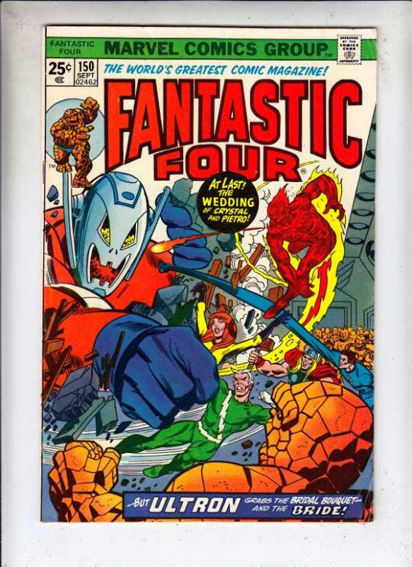Fantastic Four #150 (Sep-74) FN+ Mid-Grade Fantastic Four, Mr. Fantastic (Ree...