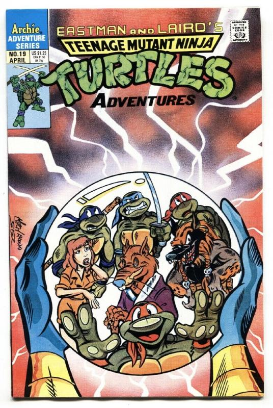 TEENAGE MUTANT NINJA TURTLES #19-1991-ARCHIE SERIES-HTF CRYSTAL BALL