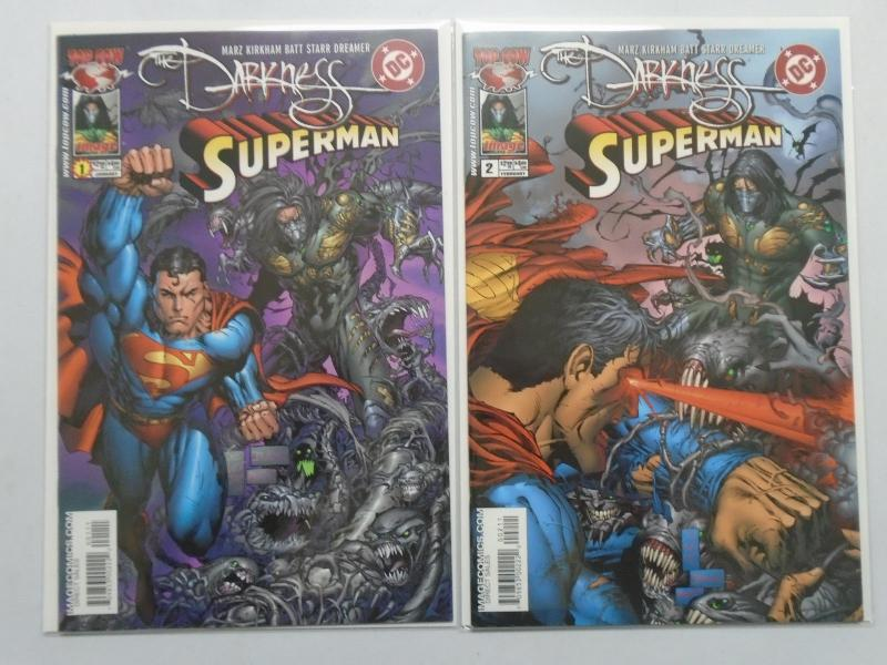 Darkness Superman, Set:#1+2, 8.5/VF+ (2005)