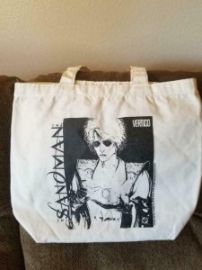 SANDMAN / VERTIGO BAG, Tote, Neil Gaiman, 16x16, San Diego Comic Convention,1995