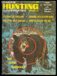 SAGA'S HUNTING ILLUSTRATED WINTER 1970-WILD BEAR COVER FN