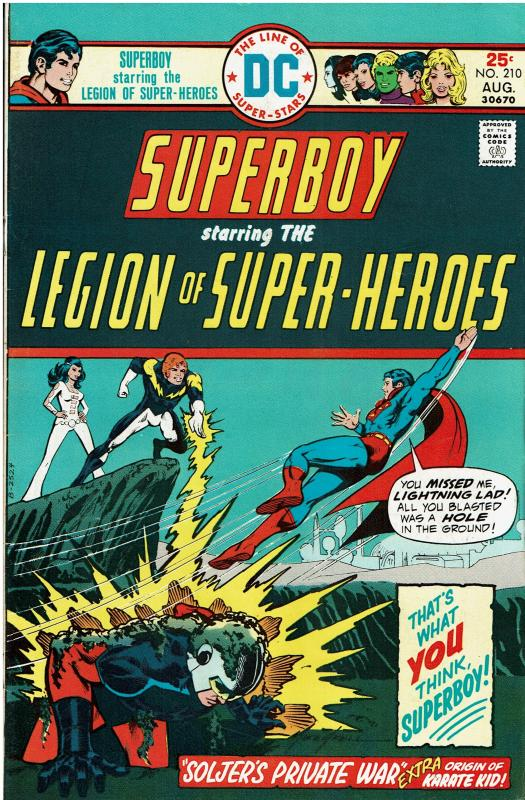 Superboy and the Legion of Super Heroes #210, 7.0 or better