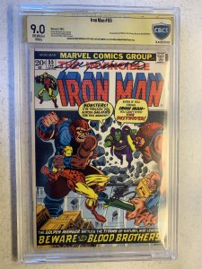 Iron Man # 55 Marvel 1st Thanos CBCS signature 9.0. starlin Sinnott mega Key