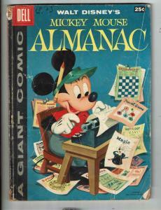 Mickey Mouse Almanac # 1 VG Dell Silver AGe Comic Book Walt Disney Giant JL1