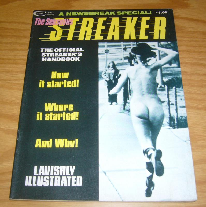 Sensuous Streaker #1 VF- hard to find curtis/marvel magazine from 1974 photos