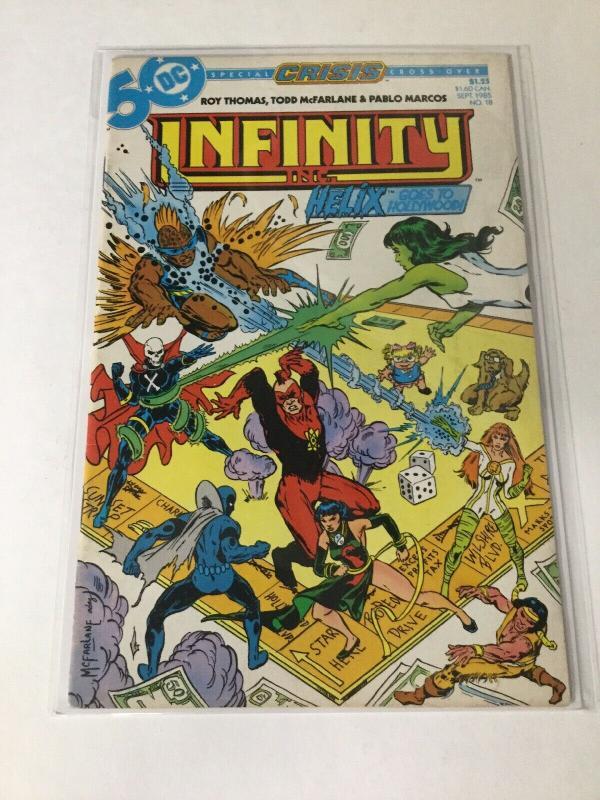 Infinity Inc. 18 Vf- Very Fine- 7.5 DC Comics