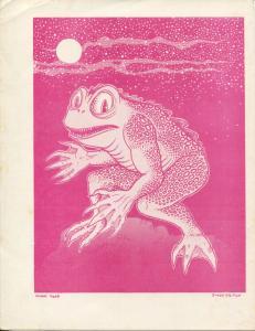 Simon Deitch Night Frog Print 1970's-Hema Goblin by Jaxon-8 1/2 X 11-FN