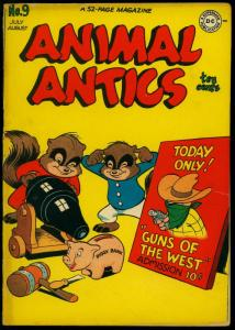 Animal Actics #9 1947- Raccoon Kids- Presto Pete- DC Funny Animals VG-