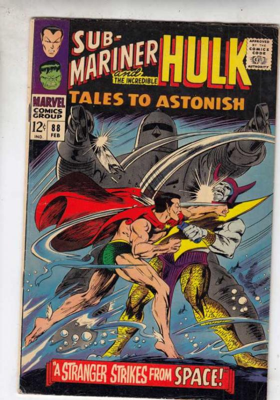 Tales To Astonish #88 (Feb-67) FN/VF Mid-High-Grade Incredible Hulk, Namor th...