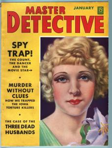 MASTER DETECTIVE JAN 1939-FN-PULP STYLE CRIME MAG-HANSA WITTIG CVR/ARTICLE FN