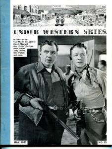 Under Western Skies #23 5/1983-Roy Rogers-Andy Devine-Slim Pickens-FN