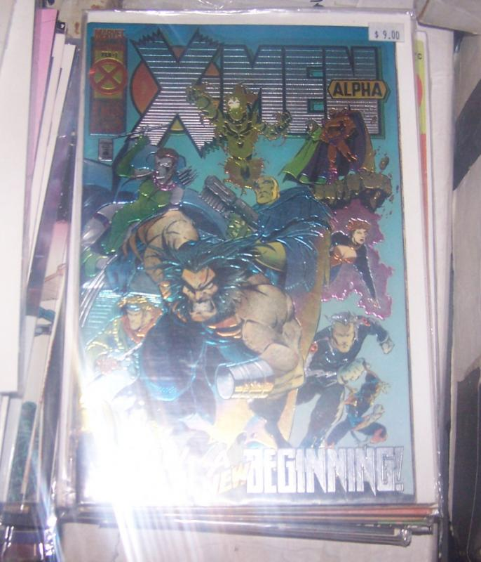 X-Men: Alpha #1 (Feb 1995, Marvel) 1ST X MAN ( NATE GRAY) 1ST DARK BEAST AOA