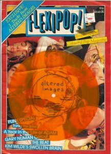 Flexipop! #14 1982-British Rock 'n' Roll magazine with record attached to cov...