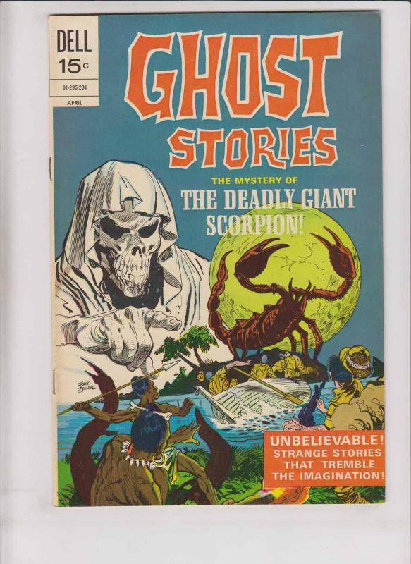 Ghost Stories #32 VF april 1972 - dell comics - deadly giant scorpion - horror