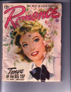ROMANCE-MAY 1949-BLONDE COVER-RARE VG