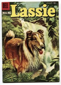 Lassie #33 1956-Dell-famous MGM Collie-FN/VF