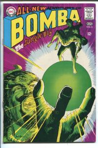 BOMBA THE JUNGLE BOY #6 1968-DC COMICS-BIZARRE COVER-vf minus