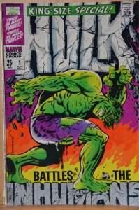 The Incredible Hulk Annual #1 (1968) Key Issue!! Battles the Inhumans!