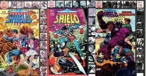 SHIELD / STEEL STERLING (1983 RED CIRCLE / ARCHIE) 1-3