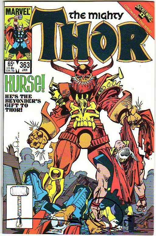 Thor, the Mighty Signed #363 (Jan-86) NM- High-Grade Thor
