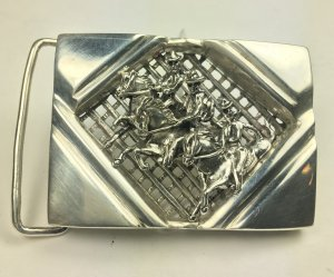 Ghost Riders sterling silver Artisan made Gents Belt buckle