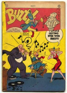 BUZZY #10 1946-DC COMICS-RECORDS ON COVER FR