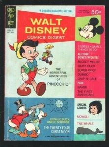Walt Disney Comics Digest #6 1968-Carl Barks art-Pinocchio-Bambi-Dumbo-Tinker...