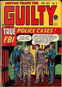 JUSTICE TRAPS THE GUILTY #6-SIMON & KIRBY CVR/STORY VG