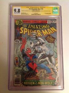 CGC 9.8 SS Amazing Spider-Man #190 signed Lee Pollard Wolfman Milgrom Shooter