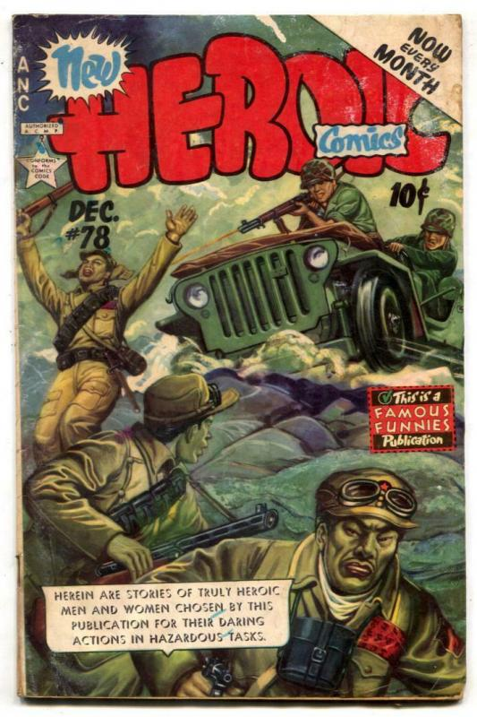 Heroic Comics #78 1952- Jeep cover G