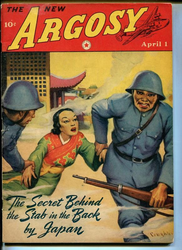 Argosy  4/1/1942-Red Star-Oriental menace-Louis C Goldsmith-WWII-VG/FN