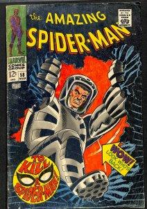 Amazing Spider-Man #58 VG+ 4.5 2nd Spider Slayer!