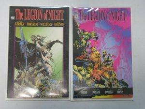 The Legion of Night set #1+2 6.0 FN (1991)