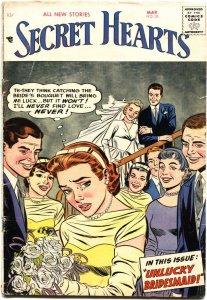 SECRET HEARTS #38-1957-BRIDE COVER-EMOTIONS-TEARS-ROMANCE COMICS BACK COVER AD--