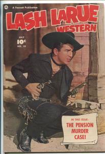 LASH LARUE #18 1951-FAWCETT-PHOTO COVER-B-WESTERN HERO-fn/vf