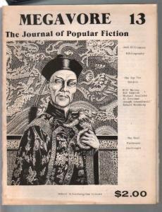 Megavore #13 1981-Jornal Of Popular Fiction-Fu Manchu-pulps-VG
