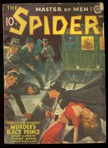 THE SPIDER JULY 1941 MURDERS BALCK PRINCE DESOTO COVER VG