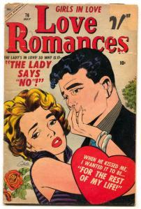 Love Romances #76 1958- Colletta cover- G+