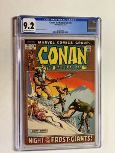 Conan the Barbarian 16 cgc 9.2 ow/w pages marvel bronze age