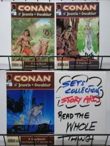 CONAN AND THE JEWELS OF GWAHLUR #1-3 (Dark Horse, 2005) COMPLETE!P.Craig Russell