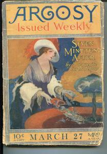 ARGOSY 03/27/1920-MUNSEY-PULP-RAY CUMMINGS-PULP ADVENTURE-fr/good