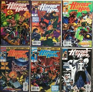 HEROES FOR HIRE (MARVEL 1997)#1,4-7,9 ALL NM CONDITION 6 BOOK LOT