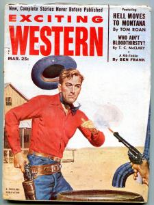 Exciting Western Pulp March 1953- Hell Comes to Montana FN