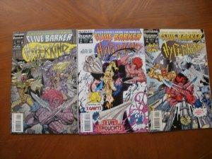 3 Near-Mint Marvel Razor Link: Clive Barker's HYPERKIND #1 (Foil Cover) #3 #4