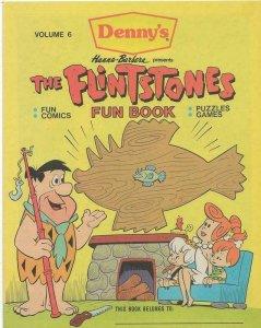 Flintstones Fun Book #6 ORIGINAL Vintage 1988 Denny's Promotional Comic