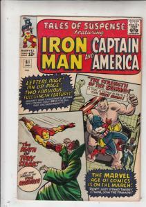 Tales of Suspense #61 (Jan-65) FN+ Mid-High-Grade Iron Man, Captain America