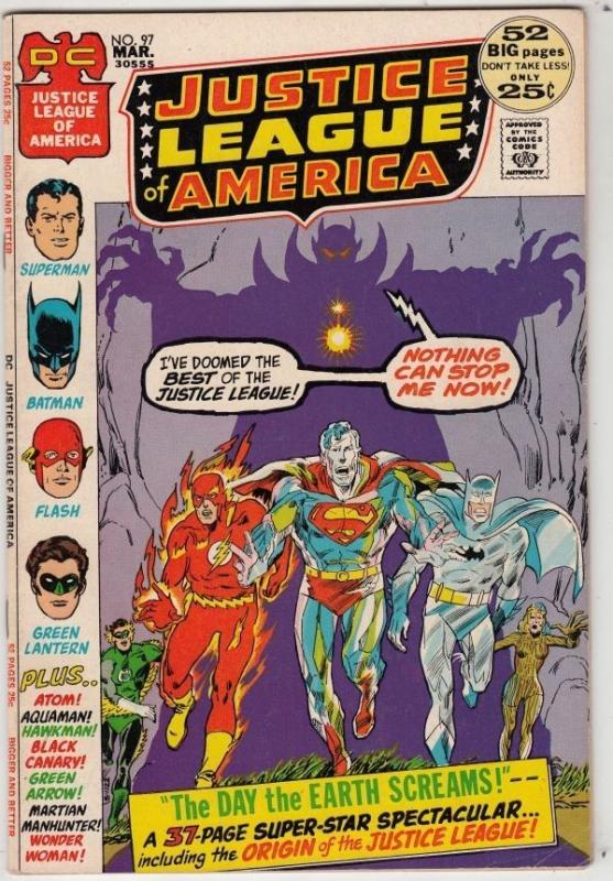 Justice League of America #97 strict VF/NM 9.0 High-Grade Origin of JLA  C'ville